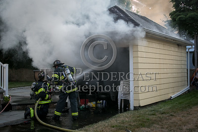 Belmont MA - Garage fire at 46 Van Ness Rd