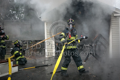 Belmont MA - Working Fire - Garage Fire at 6 Hillside Ter