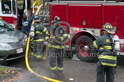 Belmont MA - Working Fire - Garage Fire at 6 Hillside Ter