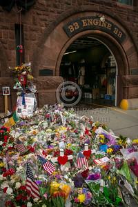 Boston MA - LODD Memorial at E33 / L15 on Boylston St