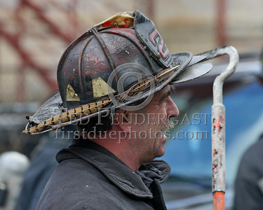 """Feather On His Brim"" - FF Neal S., Ladder Co 29 - Boston Fire Dept - 2nd Alarm on Aspinwall Road."