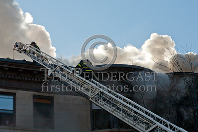 Brookline MA - 4 Alarm Apartment Bldg Fire - 1471 Beacon St