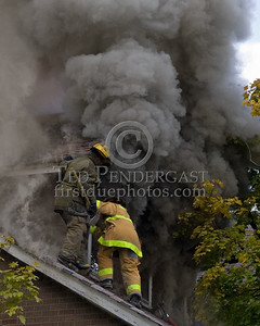 Detroit,MI - Working Fire - 5726 Hurlbut St - Ladder 19 Performs Horizontal Ventilation On 2nd Floor