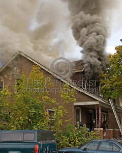Detroit,MI - Working Fire - 5726 Hurlbut St - Heavy Smoke From Vented 2nd Floor Windows