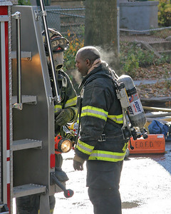East Orange NJ Firefighters Taking A Breather