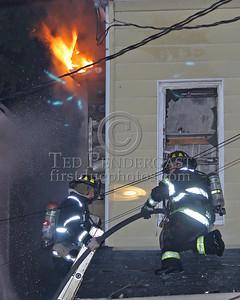 "Advancing An 1-3/4"" Line Through Second Floor Window"