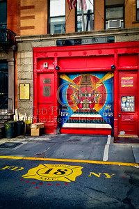 FDNY Squad 18's Firehouse - 132 W 10th St., Greenwich Village, Manhattan