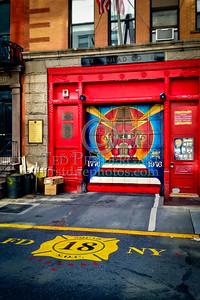 FDNY Squad 18's Firehouse - 132 W 10th St., Greenwich Village, Manhattan