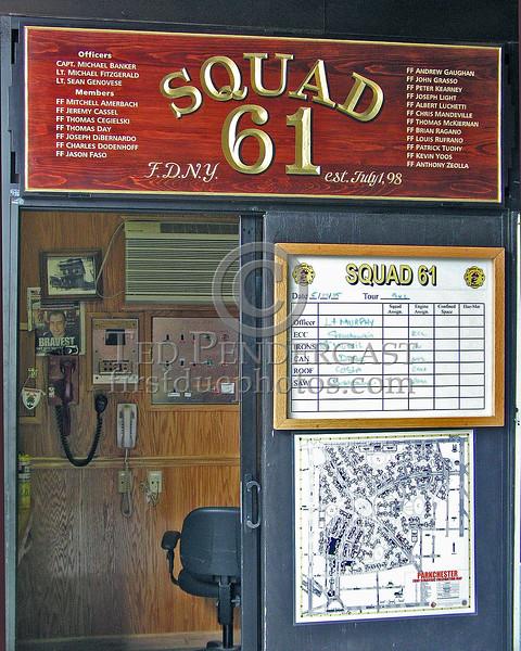 Watch Desk - The Quarters Of Squad Co.61 & Battalion Two-Oh - FDNY - Da Bronx