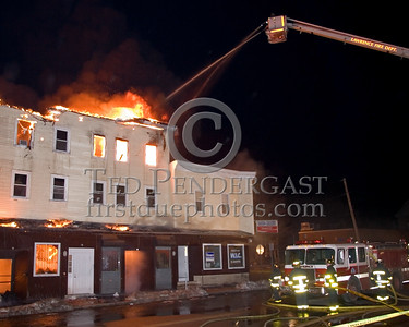 Lawrence Engine 9 And Ladder 5 Operating At Parker And Springfield -- 5+Alarms transmitted for a major fire that destroyed or damaged nearly a dozen buildings in South Lawrence in the frigid early morning hours of Mon.,Jan.21,2008.