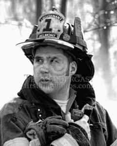 Lexington MA - Belmont Firefighters Operating at Major Brush Fire in The Great Meadows off Cirlce Rd.  Friday, April 17, 2009 Lt  Andrew Tobio