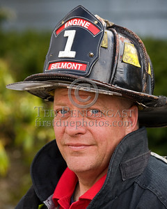 Lexington MA - Belmont Firefighters Operating at Major Brush Fire in The Great Meadows off Circle Rd.  Friday, April 17, 2009 FF Steve Reilly