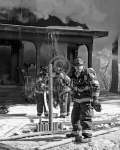 A Lincoln Lieutenant And His Company Prepare An Additional Attack Line Infront Of The Building