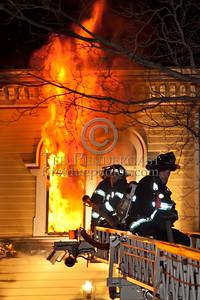 Newton MA - 3 Alarm House Fire On Waverley Av
