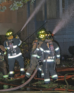 "Orange NJ Firefighters With A Big Line and An 1-3/4"" Protecting The Exposure On The Bravo Side"