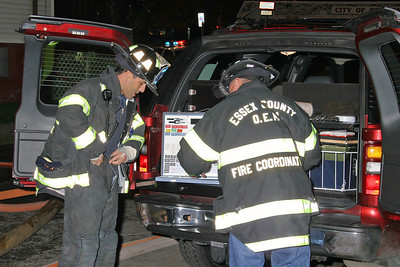 Essex County NJ Fire Mutual Aid Coordinators At The Command Post/Status Board