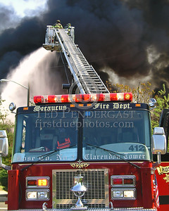 Secaucus NJ Fire Dept Hose Co.2's Clarendon Tower 2 In Operation