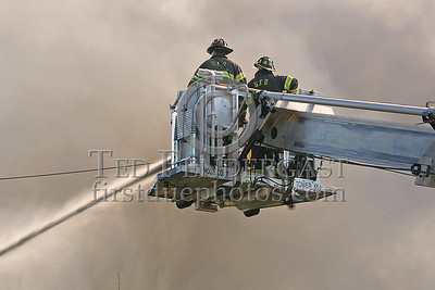 Secaucus Hose Co.2's Tower Co.2 Operating Master Stream At The End Of Henry Street