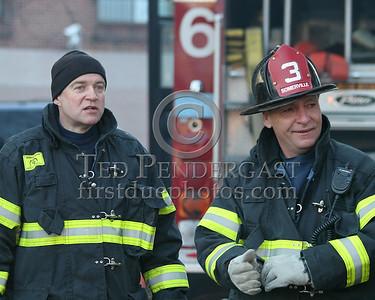 Firefighter Mike B. - Somerville Engine Co. 6 (left) and FireFighter Billy C. - Somerville Ladder Co. 3 (right)