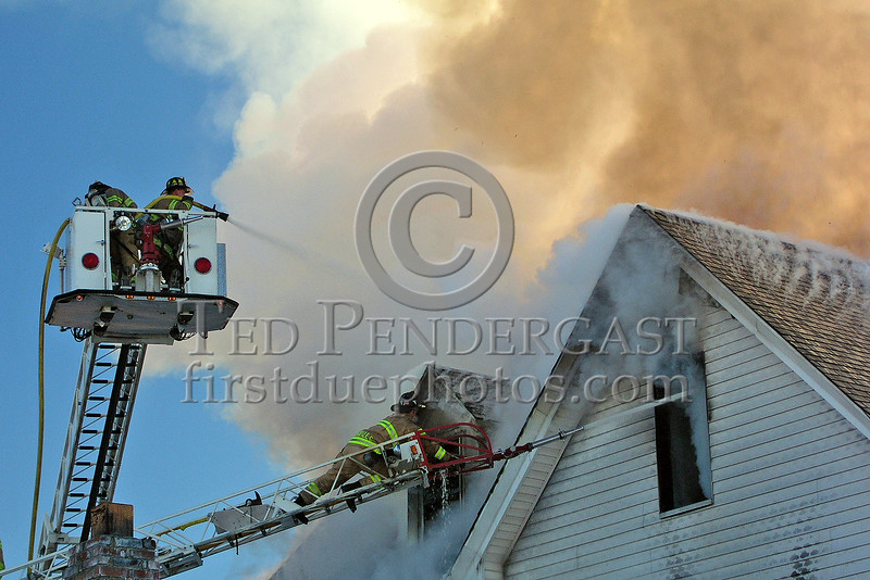 Somerville Tower Co.1 and Ladder Co.3 In Operation On The Delta Side
