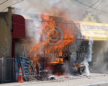 Heavy Fire Venting From Storefront; No One On Scene - 2 Alarms Transmitted On Arrival For A Fire In A Store Front At 530 31st. Street In Union City, New Jersey.