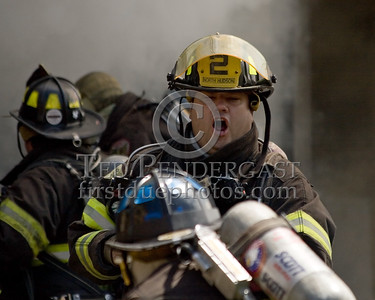 Member of NHRFR Squad 2 Calling To Another FF -- 2 Alarms Transmitted On Arrival For A Fire In A Store Front At 530 31st. Street In Union City, New Jersey.