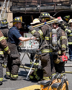 Accountability, Checking in With Command Post Upon Departure -- 2 Alarms Transmitted On Arrival For A Fire In A Store Front At 530 31st. Street In Union City, New Jersey.