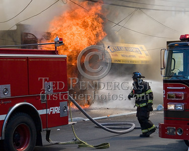 First Water On The Fire - 2 Alarms Transmitted On Arrival For A Fire In A Store Front At 530 31st. Street In Union City, New Jersey.