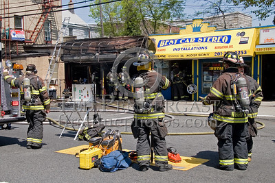 RIT Team Staged At Command -- 2 Alarms Transmitted On Arrival For A Fire In A Store Front At 530 31st. Street In Union City, New Jersey.