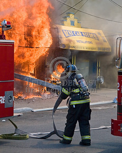 North Hudson Regional FD Companies Arrive & Stretch The First Lines On The Fire - 2 Alarms Transmitted On Arrival For A Fire In A Store Front At 530 31st. Street In Union City, New Jersey.