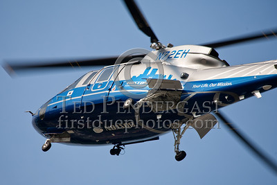 Waltham MA - MedFlight LZ for MC Accident