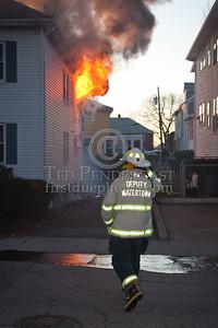 Watertown MA - 2 Alarm House Fire 23-25 Wilson Av
