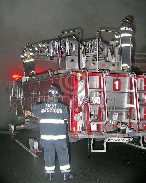 Watertown Ladder Co.1 Sets Up On Galen Street