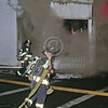 Officer From Boston Engine 37 Stretches A Big Line