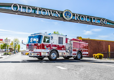 Medic Engine 311 - Downtown Victorville - 03/24/2016