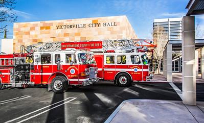 (By Brandon Barsugli)Company 311 @ Victorville City Hall