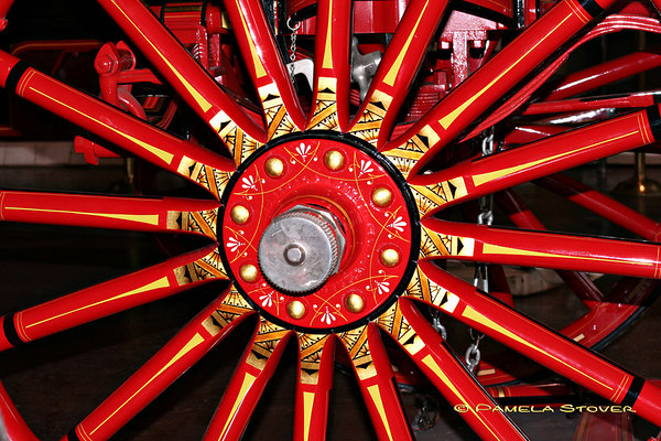 Fire Truck Wheel <br /> © Pamela Stover<br /> Exposed Images Photography
