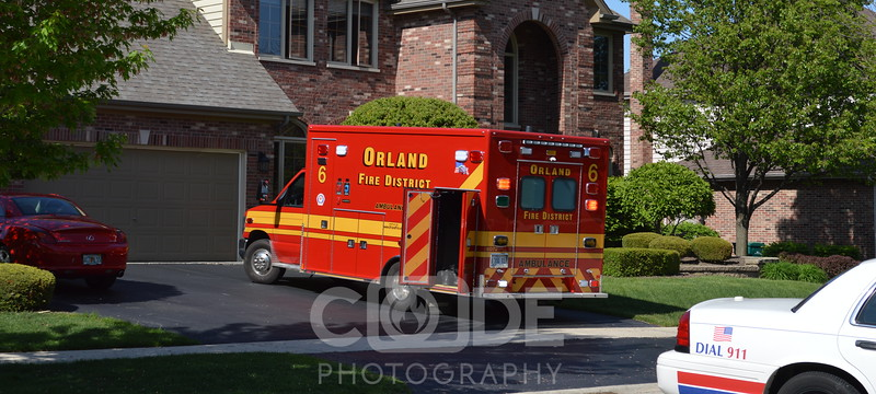 Orland Park emergency personnel on scene of a garage fire that started as a car fire.