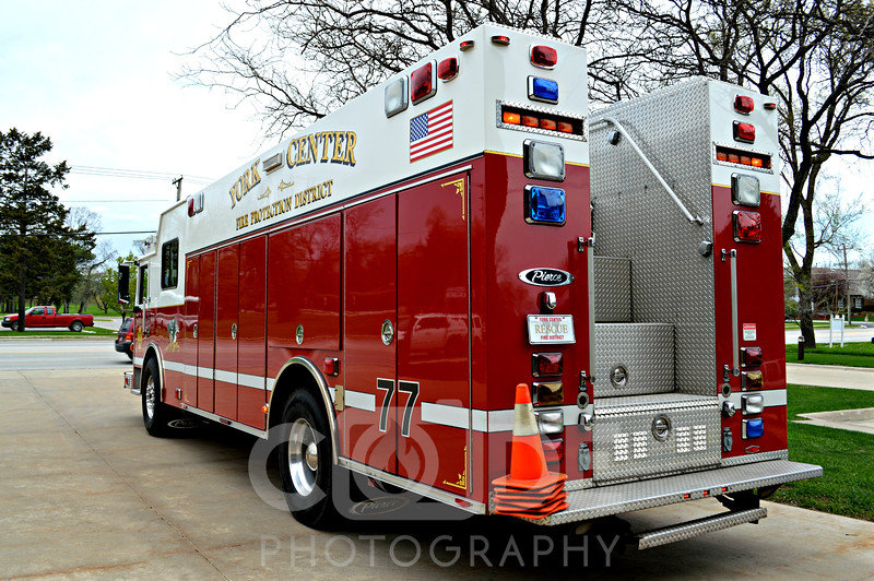 The York Center FPD is a part time department manned 24/7/365. they run 1 frontline engine 1 frontline squad 1 frontline ambo. They have a reserve engine, ambulance and mini squad with Div 12 TRS wagon.