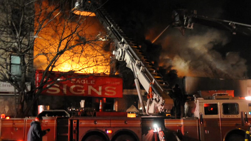 F.D.N.Y. 4th Alarm Northern Blvd. between 104th and 105th Streets 1/27/13