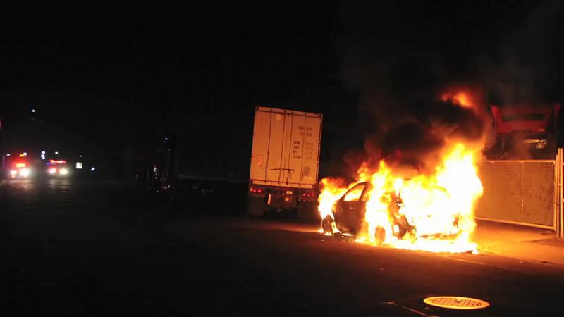 Massapequa F.D. Car Fire 25 E. Chestnut St. 4/28/13