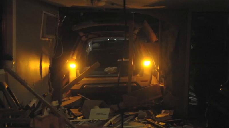 Levittown F.D. MVA Car Into House 26 Jester Ln. 11/18/14