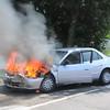 Massapequa F.D. MVA w/ Car Fire Sunrise Hwy. and Louden St. 8/11/13
