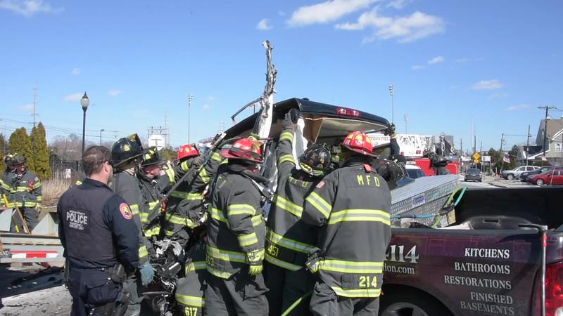 Massapequa Accident with Entrapment I/F/O 5690 Old Sunrise Hwy. 3/16/17