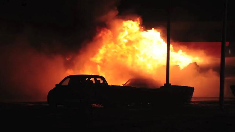 Bellmore F.D. Signal 10 MVA w/ Overturned Tanker and Fire, Sunrise Hwy. and Newbridge Rd. 12/17/13