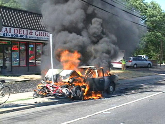 North Amityville Fire Co. MVA with Signal 14 Sunrise Hwy. and Albany Ave. 7/3/10