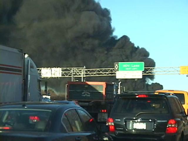 Melville F.D. Fatal MVA w/ Tanker Fire L.I.E. at Exit 48 1/23/10