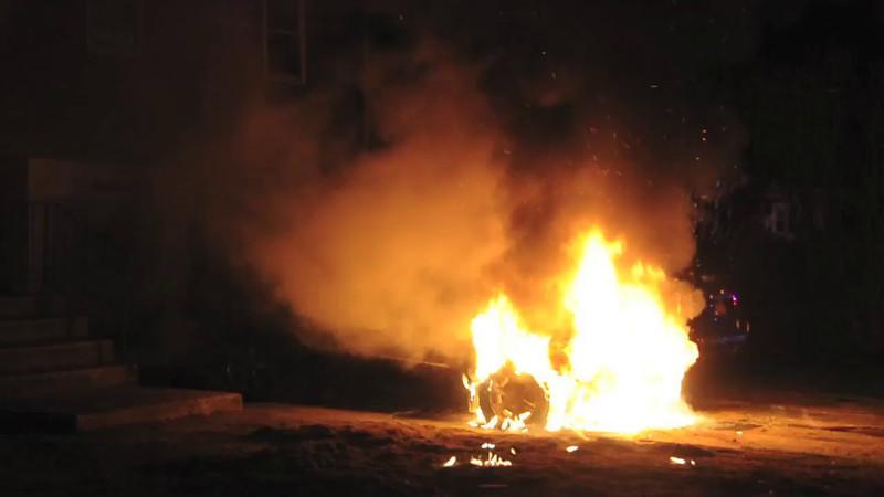 Massapequa F.D. Car Fire 19 Stone Blvd. 4/26/14