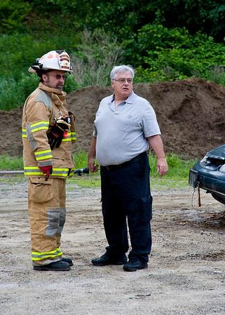 Live car fire training