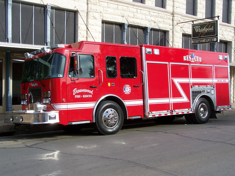 A brand new rig with BFD, Rescue 1, Replaced a smaller Ford Mini Pumper/Rescue